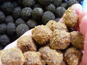 A couple of samples of variations of Tim's cultured no egg boilie baits and pastes...