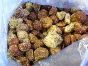 PVA bag cured homemade carp boilie bait